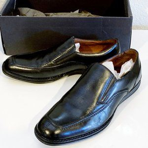 Tasso Elba Leather Loafers Slip On Shoes